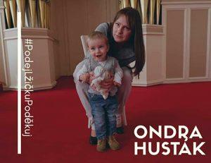 Ondrášek Husták - Pomáháme dětem - finanční dar