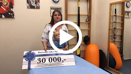 Ivo Vondrák - Pomáhá dětem - finanční dar
